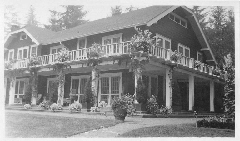 An old photo of the house on the property when it was first built